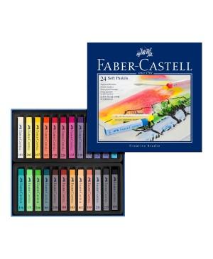 Sausa pastelė Faber Castell Creative Studio, 24 spalvų