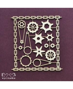 Kartono formelė Steampunk Cogs