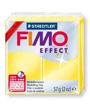 Modelinas Fimo Effect, 56g, 104 geltonas išskaidrėjantis