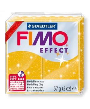 Modelinas Fimo Effect, 56g, 112 aukso su blizgučiais