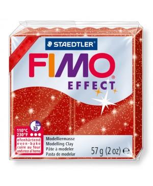 Modelinas Fimo Effect, 56g, 202 raudonas su blizgučiais