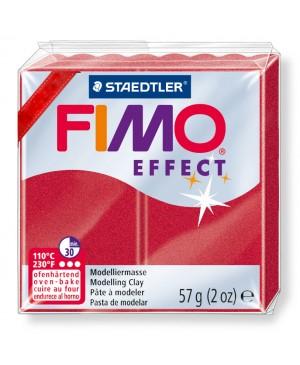 Modelinas Fimo Effect, 56g, 28 raudonas metalizuotas/perlamutrinis