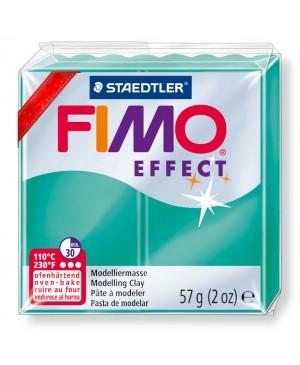 Modelinas Fimo Effect, 56g, 504 žalias išskaidrėjantis