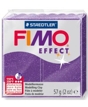 Modelinas Fimo Effect, 56g, 602 violetinis su blizgučiais