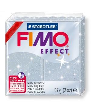 Modelinas Fimo Effect, 56g, 812 sidabro su blizgučiais
