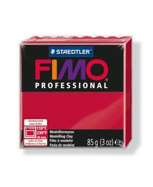 Modelinas Fimo Professional 85g, 29 karmino raudona