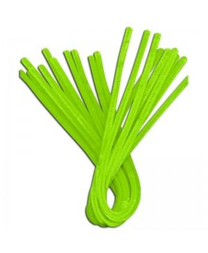 Šenilo vielos strypeliai 9mm storio, ilgis 50cm, 10vnt., neoninė žalia