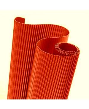Gofruotas kartonas  50x70cm (17), ryški oranžinė sp.