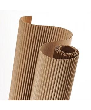 Gofruotas kartonas  50x70cm (33), rudos krafto spalvos