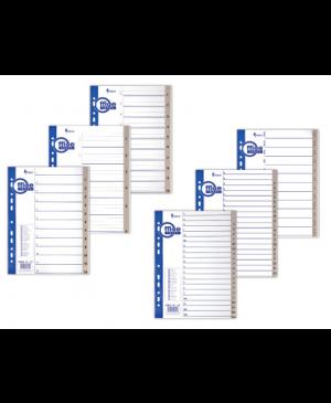 Skiriamieji lapai Forpus, A-Z, A4, plastikiniai