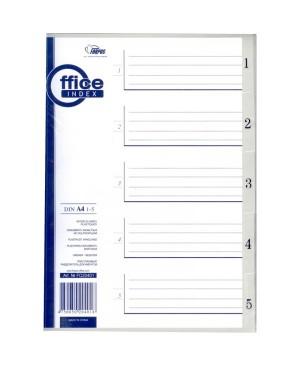 Skiriamieji lapai Forpus,1-5, A4, plastikiniai
