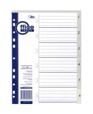 Skiriamieji lapai Forpus, 1-6, A4, plastikiniai