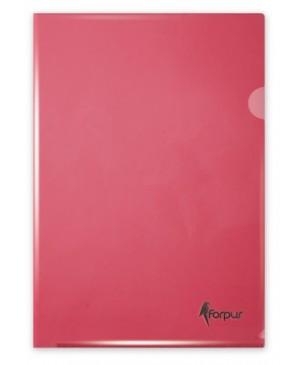 Aplankas dokumentams Forpus, A4, raudonas,180 mkr, L formos