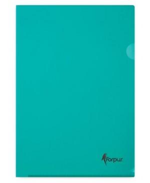 Aplankas dokumentams Forpus, A4, žalias,180 mkr, L formos