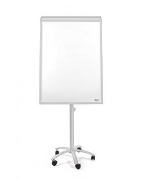Konferencinis stovas su balta magnetine lenta ir ratukais, 100x70 cm