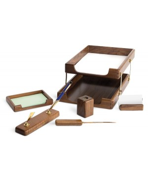 Darbo stalo priemonių rinkinys Forpus, medinis, dūminio ąžuolo sp.6 dalių