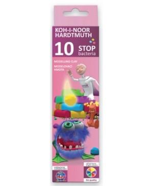 Plastilinas antibakterinis STOP Bakterija 10 spalvų