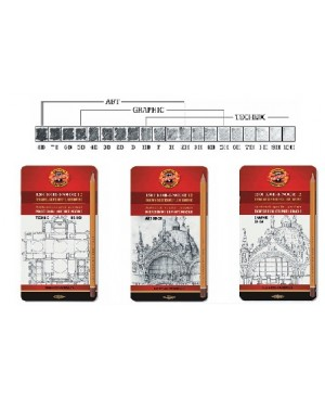 Pieštukų rinkinys HB-10H, Koh-I-Noor TECHNIC