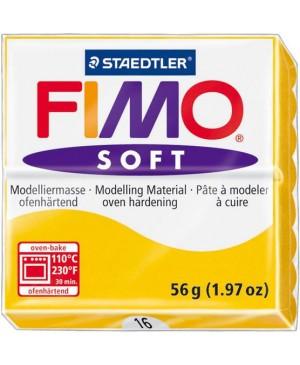 Modelinas Fimo Soft, 56g, 16 saulėgrąžų geltona