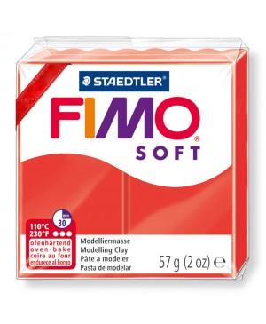 Modelinas Fimo Soft, 56g, 24 indų raudona