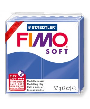 Modelinas Fimo Soft, 56g, 33 mėlyna ryški