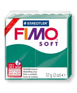 Modelinas Fimo Soft, 56g, 56 smaragdo žalia