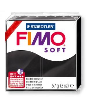 Modelinas Fimo Soft, 56g, 9 juodas
