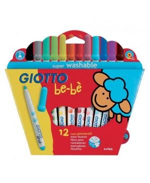 Flomasteriai Giotto Be-Be 12 spalvų