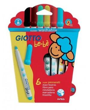 Flomasteriai Giotto Be-Be 6 spalvos