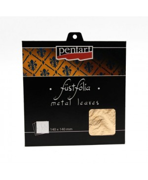 Folijos lapeliai 14x14cm, 5vnt. Gold 1