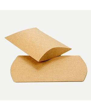 Kartoninė dėžutė - pagalvėlė 100x75x25mm rudos sp.