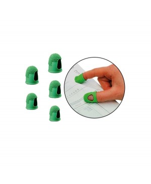 Guminis antpirštis Alco Nr.2, 17mm, žalias