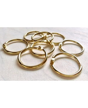 Žiedai lapams susegti 32mm diametro, 4 vnt. aukso sp.