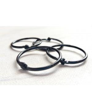 Žiedai lapams susegti 32mm diametro, 4 vnt. juodos sp.