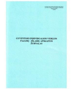 Gyventojo individualios veiklos pajamų-išlaidų apskaitos žurnalas A4, 24l.