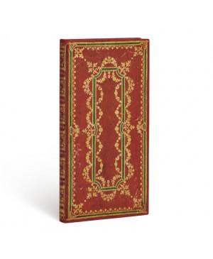 Užrašų knygutė Paperblanks Ironberry Slim 9.5x18 cm. 180 lapų linijomis