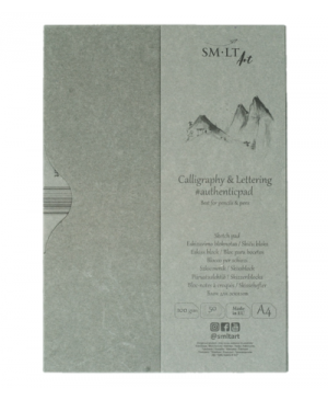 Kaligrafijos ir dailyraščio albumas su aplanku A4, 100 g/m², 50 lapų