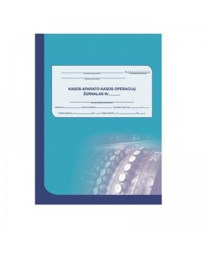 Kasos aparato kasos operacijų žurnalas A4 vertikalus, dviejų dalių, 73 l.