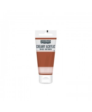 Akrilo dažai Pentart Creamy pusiau blizgūs, 60ml, red-brown clay