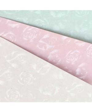 Popierius Small Roses, A4, 220g., baltas su sidabro sp. rožėmis, 1 vnt.