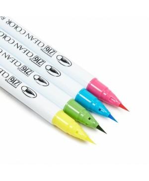 Rašikliai teptukiniai ZIG Clean Color Real Brush Pop Colours, 4 spalvos