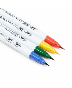 Rašikliai teptukiniai ZIG Clean Color Real Brush Pure Colours, 4 spalvos