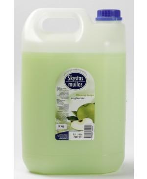 Skystas muilas su glicerinu obuolių kvapo, 5 l