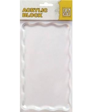 Akrilinis pagrindas silikono antspaudukams 16x9cm