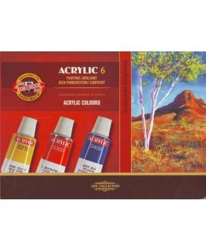 Akrilo dažų rinkinys Koh-I-Noor Acrilyc 6