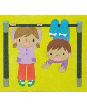 Eskizas smėlio tapybai Vaikai 20x18cm