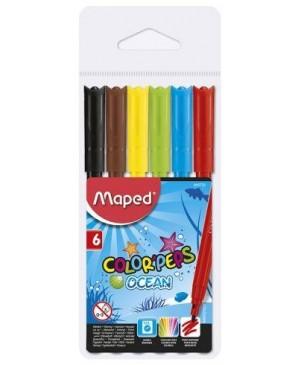 Flomasteriai Maped Color Peps Ocean 6 spalvų