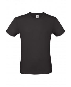 Vyriški marškinėliai B&C 150, juodos spalvos