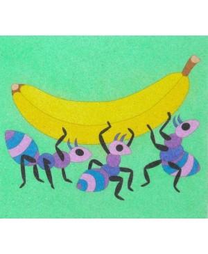 Eskizas smėlio tapybai Bananas 20x18cm