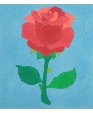 Eskizas smėlio tapybai Rožė 20x18cm